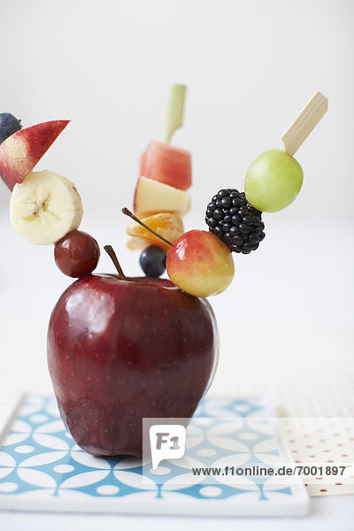 Frucht  rot  Apfel  Bratspieß  Spieß