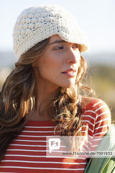 Woman  Bolinas  Marin County  California  USA