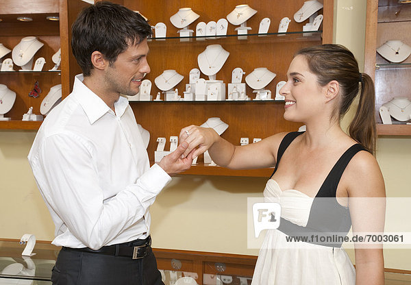Couple in Jewelry Store  Reef Playacar Resort and Spa  Playa del Carmen  Mexico