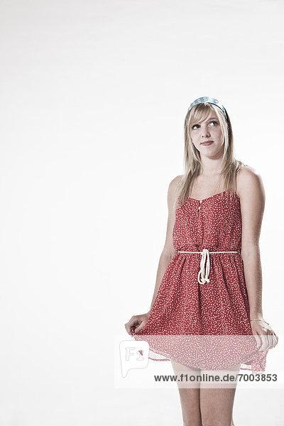 Portrait  Frau  jung  Kleidung  Kleid