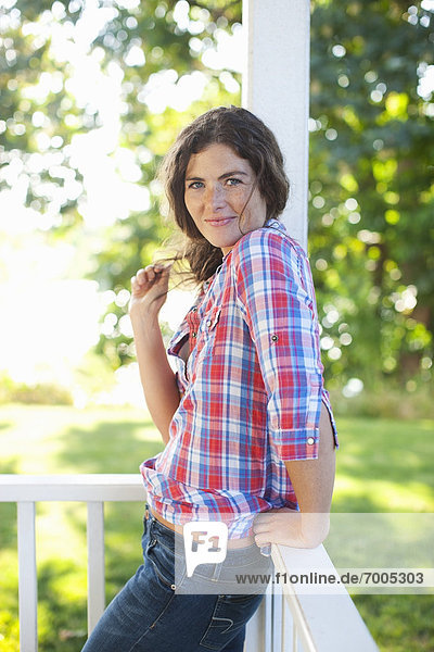 Portrait of Young Woman  Eugene  Lane County  Oregon  USA