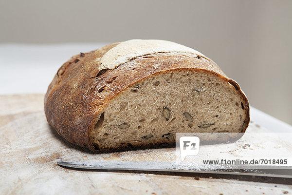 Nahaufnahme von Laib Brot