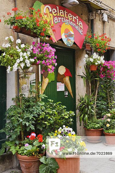 Eis  Laden  Sahne  Italienisch