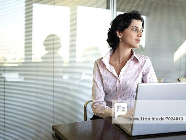benutzen  Geschäftsfrau  Computer  Notebook  jung