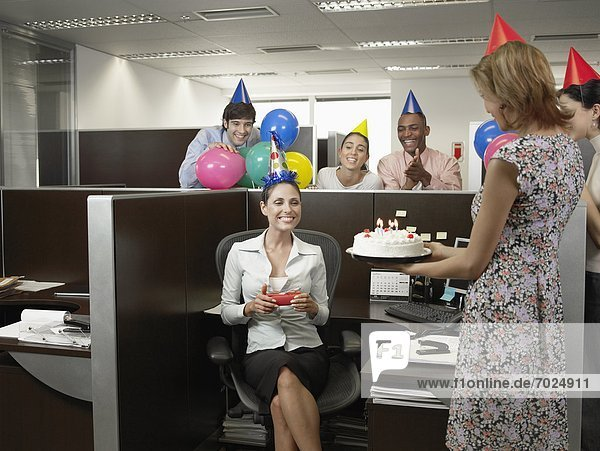 Party arbeiten Geburtstag Büro