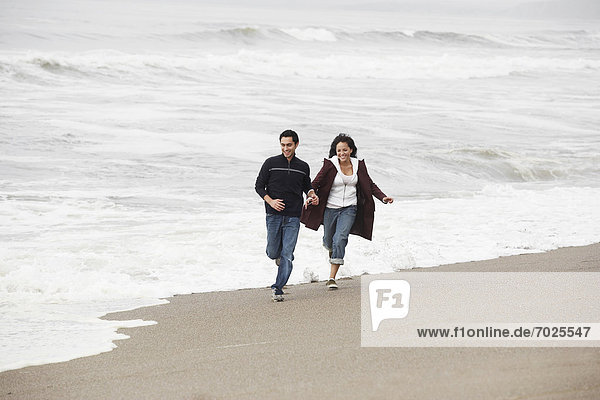 Strand  rennen  Sand  jung