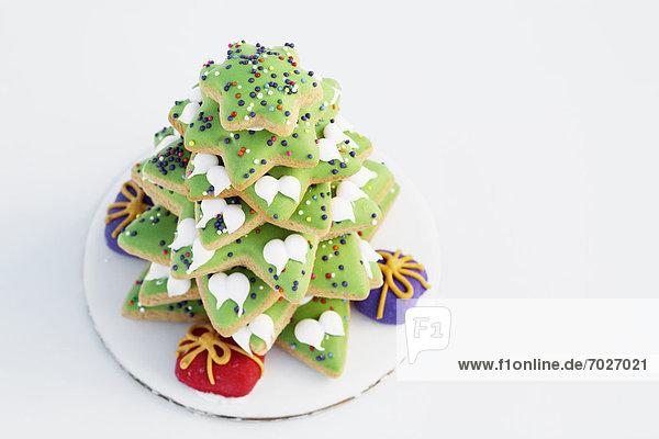 hoch oben Produktion Weihnachtsbaum Tannenbaum Lebkuchen Ansicht Flachwinkelansicht Winkel hoch,oben,Produktion,Weihnachtsbaum,Tannenbaum,Lebkuchen,Ansicht,Flachwinkelansicht,Winkel