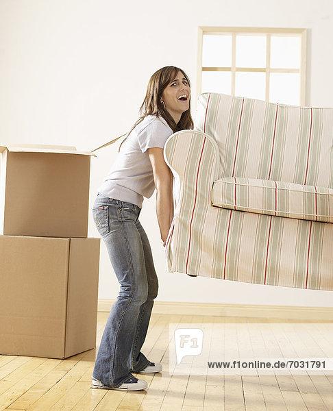 Frau Couch Ehrgeiz Bewegung