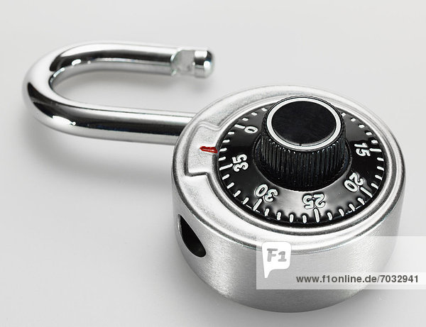 Open Padlock with Dial