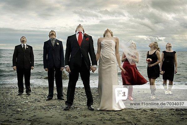 Wolke Hochzeit Strand Party Sturm unterhalb Bedrohung