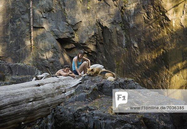 Enjoying The Woods  Elk Falls  British Columbia  Canada