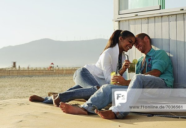 sitzend Strand