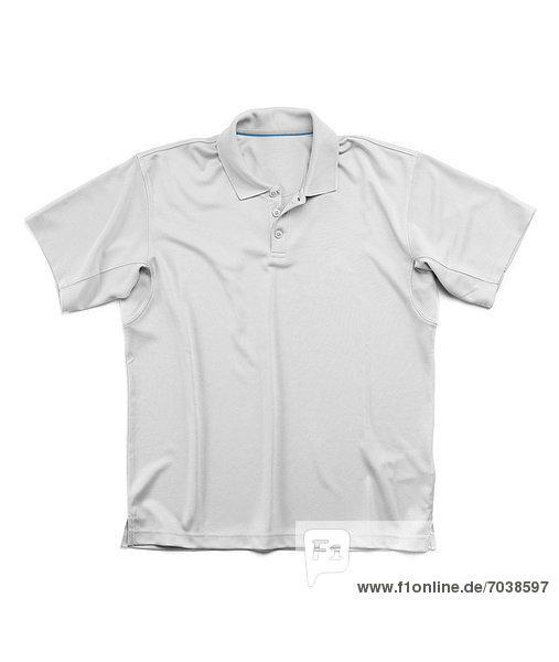 Mann grau Sommer Hemd Poloshirt Polo Shirt kurzärmelig