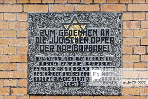Denkmal Europa Vernichtung Opfer Judentum Brandenburg Deutschland Erinnerung Oranienburg Platz Sachsenhausen Synagoge