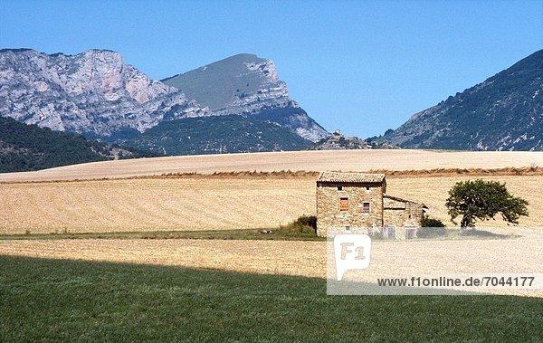 zwischen inmitten mitten Frankreich Landschaft alt Steinhaus