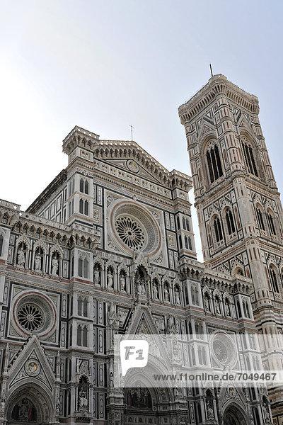 Cattedrale di Santa Maria del Fiore  Kathedrale Santa Maria del Fiore  Kathedrale von Florenz  mit Giottos Glockenturm  Florenz  Toskana  Italien  Europa