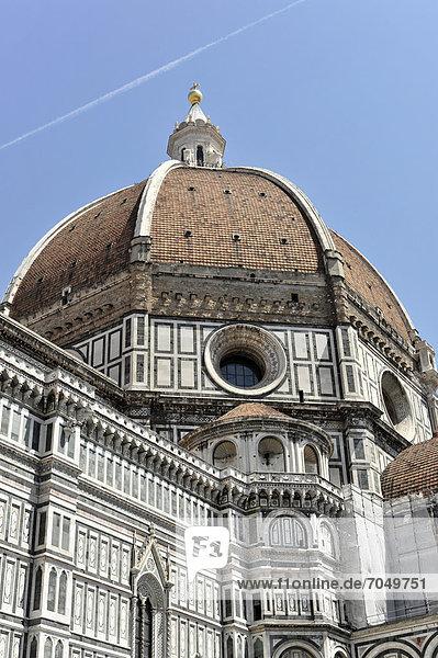 Dom  Duomo  Santa Maria del Fiore mit Brunelleschi-Kuppel  Florenz  UNESCO Weltkulturerbe  Toskana  Italien  Europa