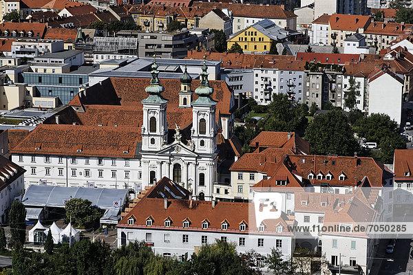 Wallfahrtskirche  Mariahilferkirche in Graz  Stadtansicht  Landeshauptstadt Graz  Steiermark  Österreich  Europa