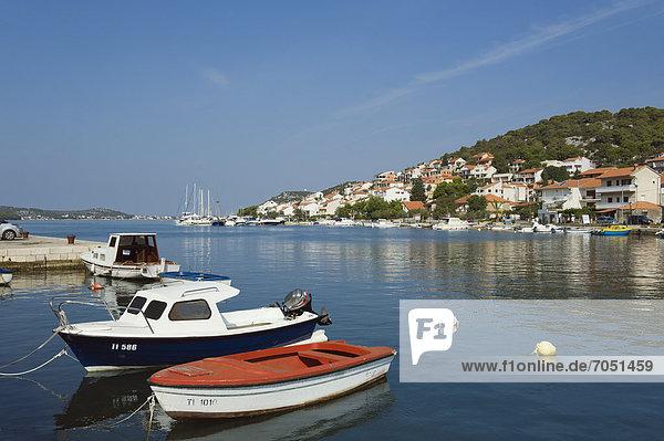 Hafen Europa Boot Adriatisches Meer Adria Kroatien Dalmatien