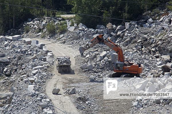 Granitsteinbruch der Rock of Ages Corporation  Graniteville  Vermont  USA