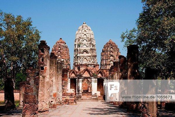 Wat Si Sawai in Sukhothai  Thailand