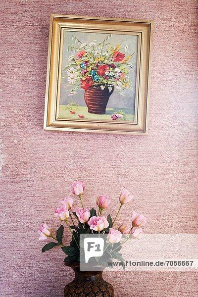 Blume , über , streichen,  streicht,  streichend,  anstreichen,  anstreichend , Illusion