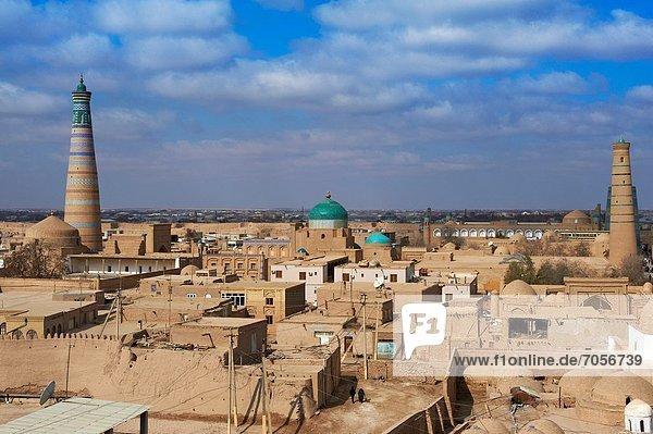 Uzbekistan  Khiva  Unesco World Heritage  city and Islam Hoja minar