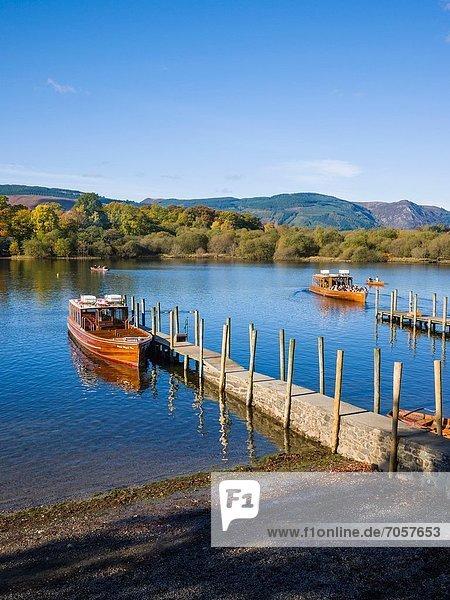 Wasser  Großbritannien  See  Fähre  Cumbria  Derwent  Ortsteil  England  Keswick