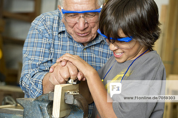 Sohn Hispanier Holz Großvater Planung