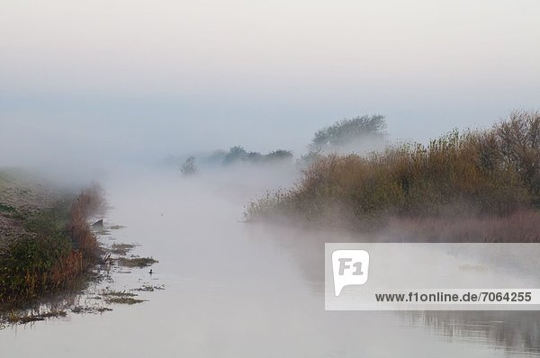 Mandatory Credit: Photo by Philip Silverman / Rex Features (1910725l) Mist on River Witham  Bardney  Lincolnshire  Britain Various - 2012