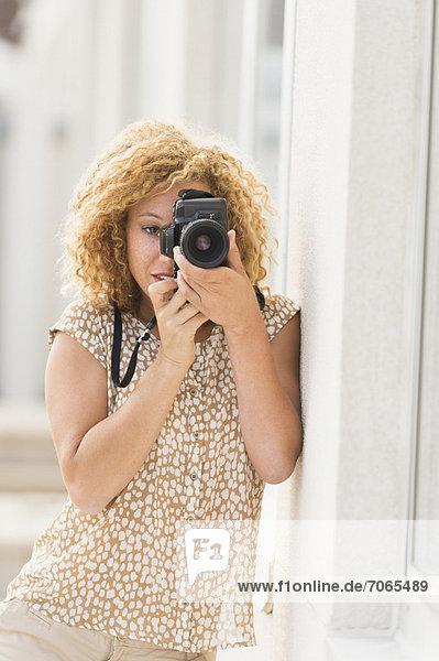 Portrait , Frau , fotografieren , jung