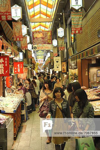 Nishiki Markt  Kyoto  Japan  Ostasien  Asien