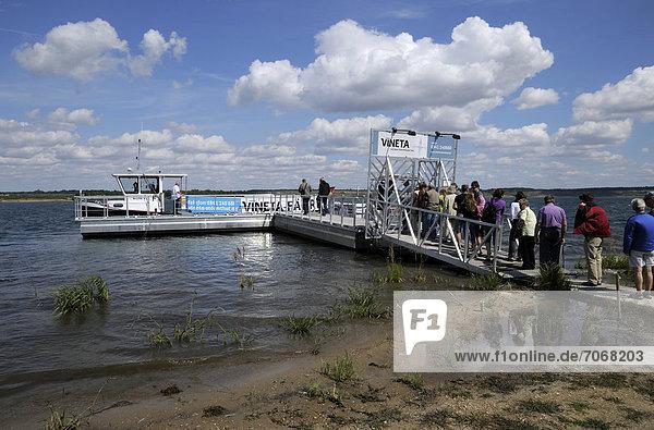 Pier  Lake Stoermthal  Stoermthal near Leipzig  Saxony  Germany  Europe  PublicGround
