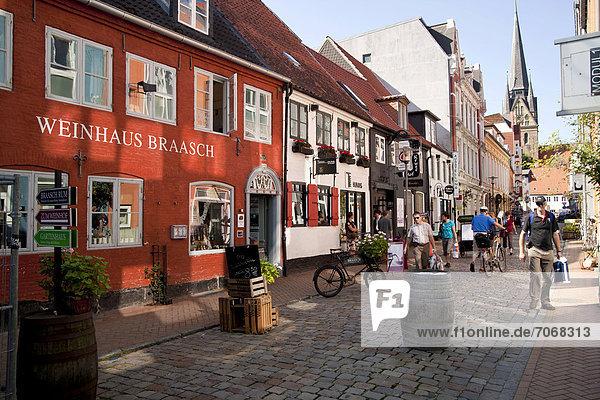 Europa Wohnhaus Wein Flensburg Deutschland Schleswig-Holstein