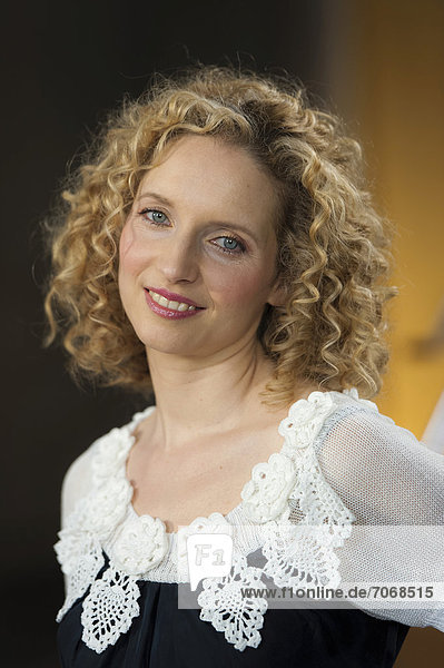 Actress Sara Sommerfeldt at a photocall in Munich  Bavaria  Germany  Europe