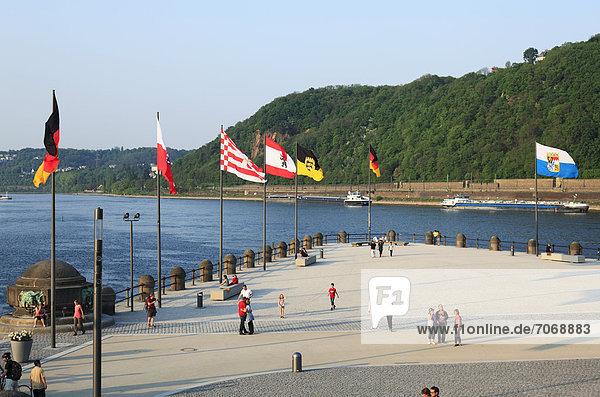 Deutsches Eck  Koblenz  Rheinland-Pfalz  Deutschland  Europa Deutsches Eck, Koblenz, Rheinland-Pfalz, Deutschland, Europa