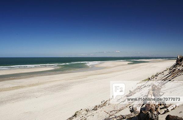 Strand  Atlantikküste bei Soulac-sur-Mer  Region Aquitanien  DÈpartement Gironde  Frankreich  Europa