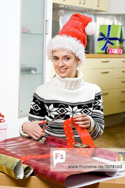 Geburtstagsgeschenk Frau verpacken Weihnachten