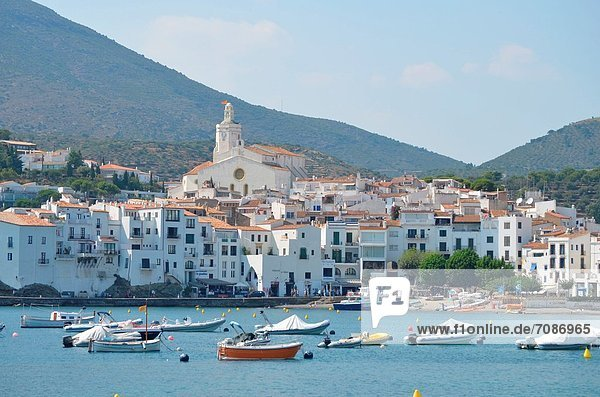 Küste Stadt Ansicht Cadaques