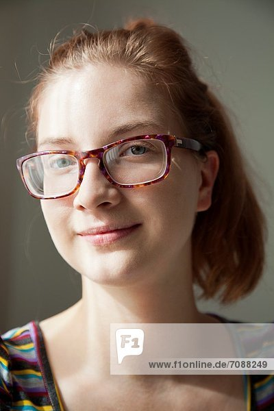 Portrait of Polish Girl with Glasses