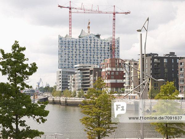 Deutschland  Hamburg  Blick auf die Elbphilharmonie Deutschland, Hamburg, Blick auf die Elbphilharmonie