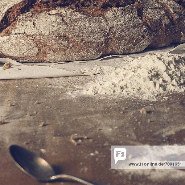 Zubereitung von Brotlaib