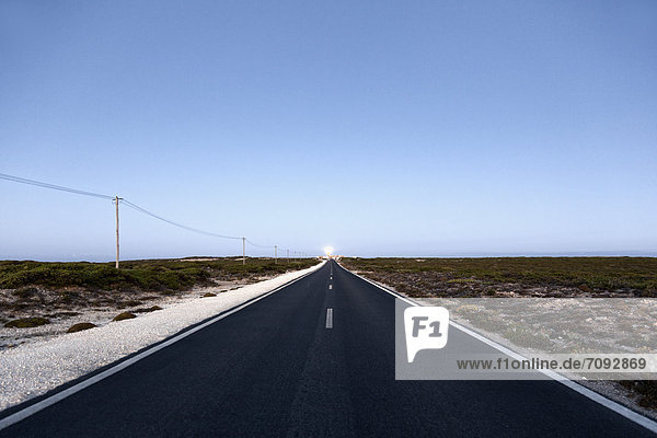 Portugal  Sagres  View of empty road