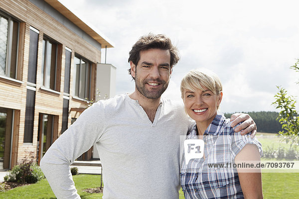 Germany  Bavaria  Nuremberg  Mature couple smiling  portrait