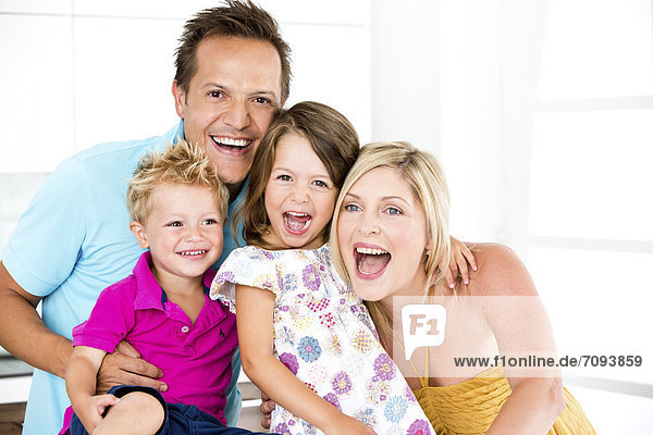 Germany  Playful family  smiling  portrait