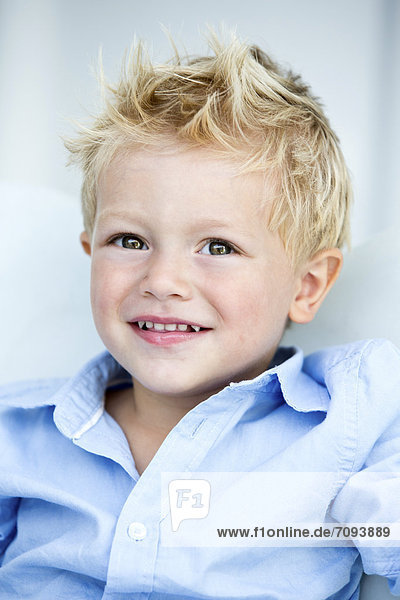 Germany  Portrait of boy  smiling