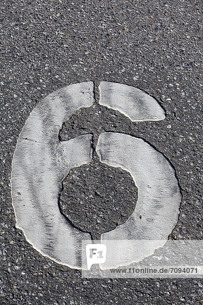 Germany  Duisburg  numbering on parking area  close up