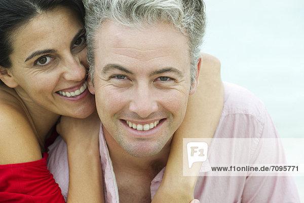 Paar umarmend  Portrait