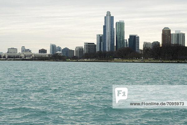 Art Institute und Millennium Park vom Lake Michigan aus gesehen  Chicago