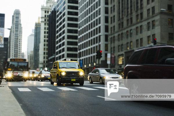 Taxi im Stadtzentrum von Chicago